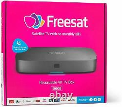 Freesat Uhd-4x 500 Go Smart 4k Ultra Hd Satellite Receiver Set Top Box Recordable