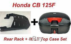 Honda Cb 125f Porte-bagages Arrière Universel Bagages Porte + 46 Lt Set Top Case