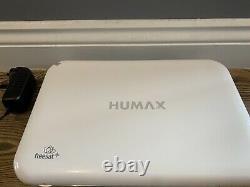 Humax Hdr-1010s 1tb Freesat Recorder Hd Tv Par Satellite Récepteur Set Top Box Blanc