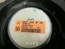Mercedes Benz W221 Oem S550 S600 S63 Avant Et Arrière Haut-parleur Logic 7 Set 2007-2009