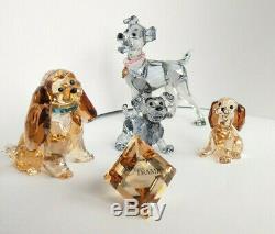 Swarovski Disney Belle Et Le Clochard Set Top Zustand En Boîtes Mint